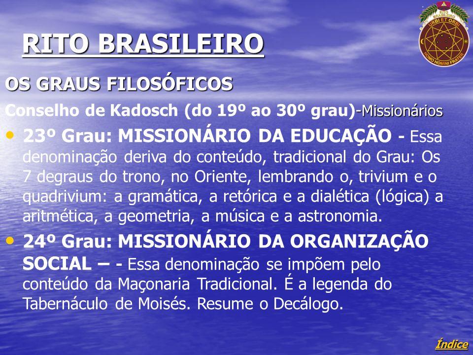 RITO BRASILEIRO OS GRAUS FILOSÓFICOS