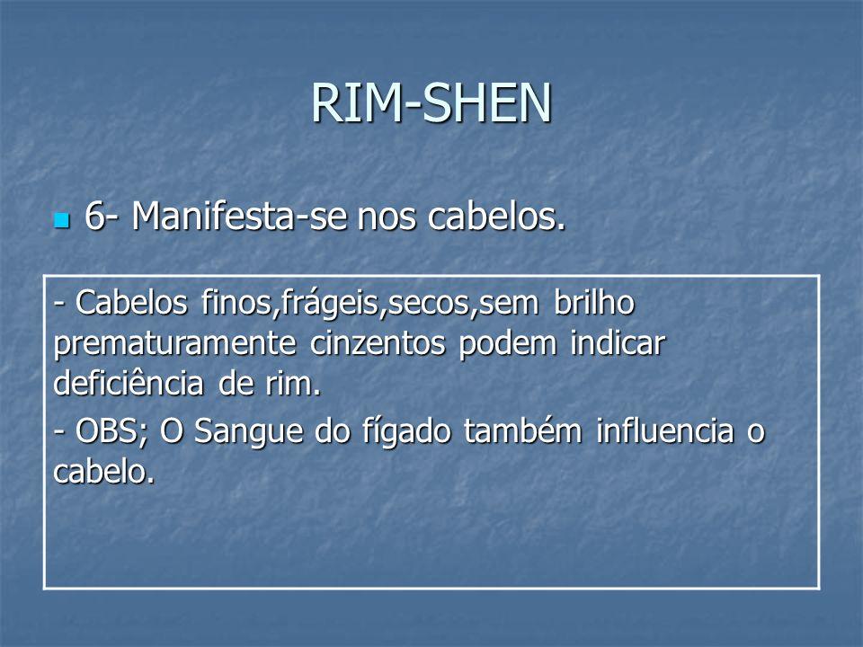 RIM-SHEN 6- Manifesta-se nos cabelos.