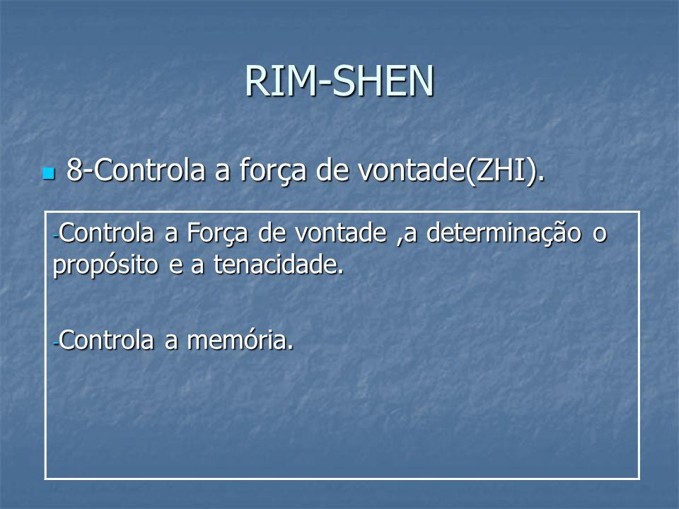RIM-SHEN 8-Controla a força de vontade(ZHI).