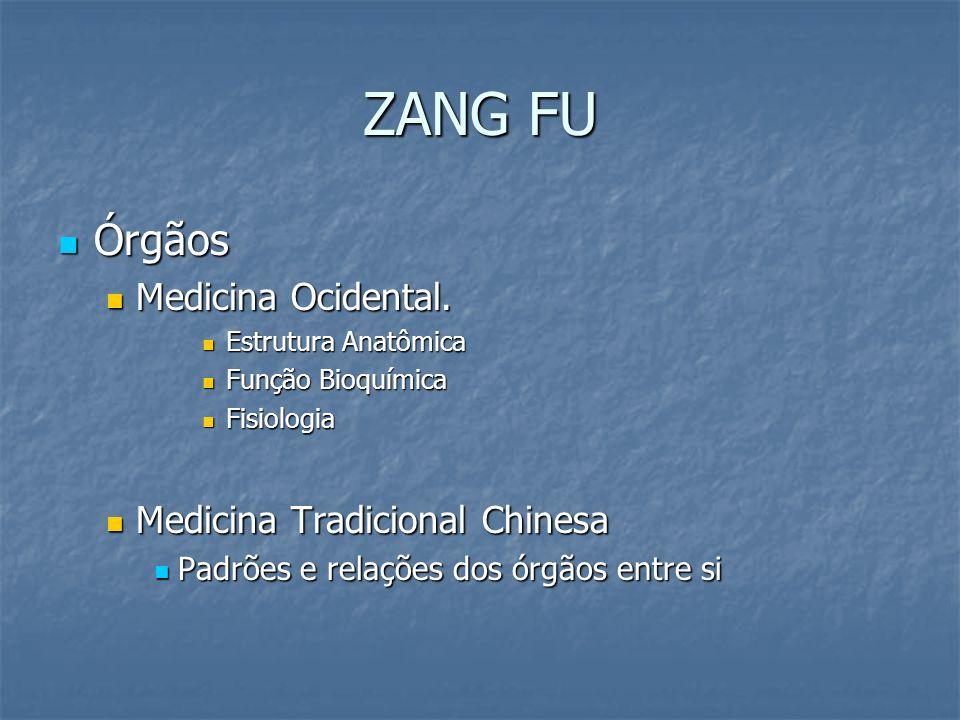 ZANG FU Órgãos Medicina Ocidental. Medicina Tradicional Chinesa