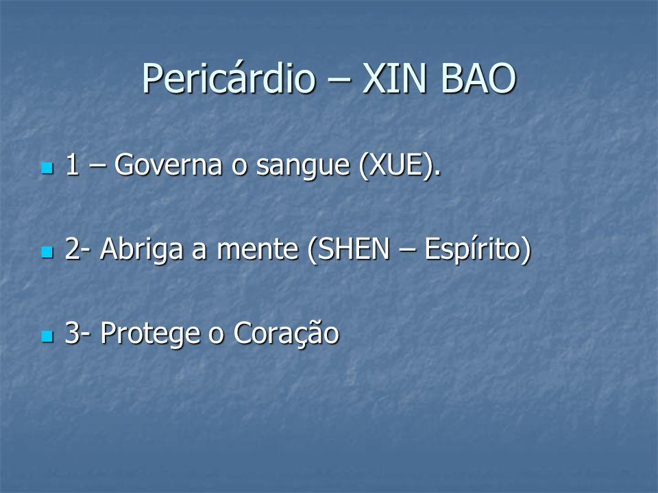Pericárdio – XIN BAO 1 – Governa o sangue (XUE).