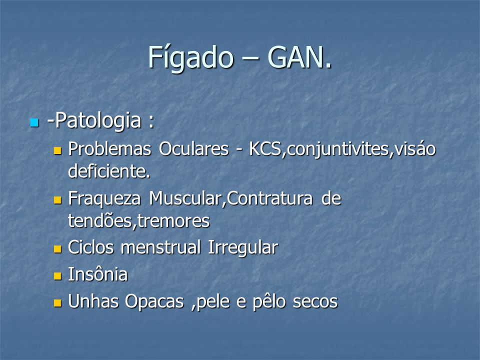 Fígado – GAN. -Patologia :