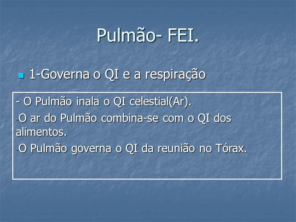 Pulmão- FEI. 1-Governa o QI e a respiração