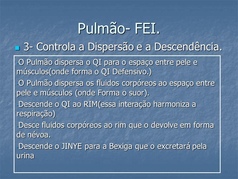 Pulmão- FEI. 3- Controla a Dispersão e a Descendência.