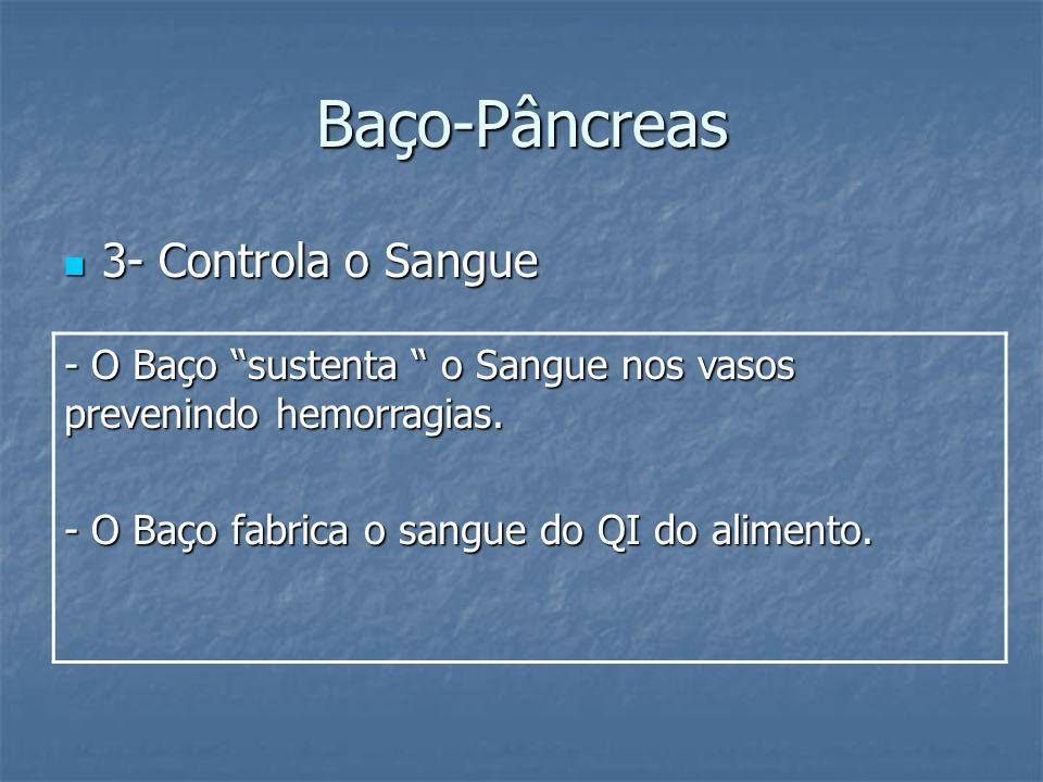 Baço-Pâncreas 3- Controla o Sangue