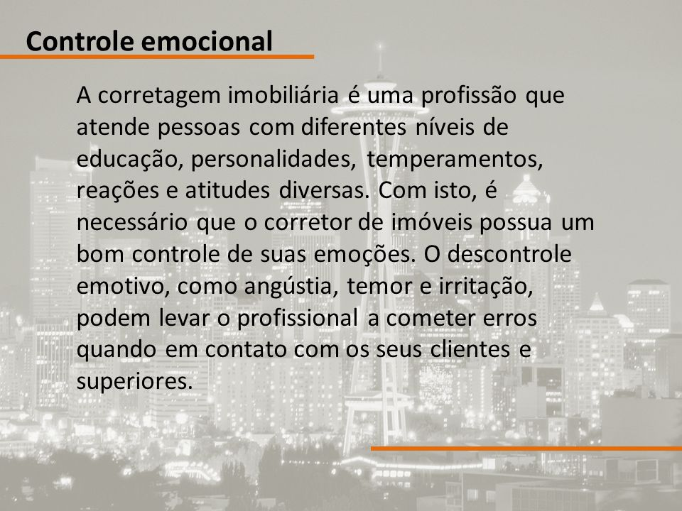 Controle emocional