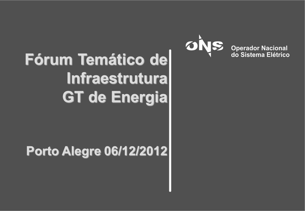 Fórum Temático de Infraestrutura GT de Energia Porto Alegre 06/12/2012