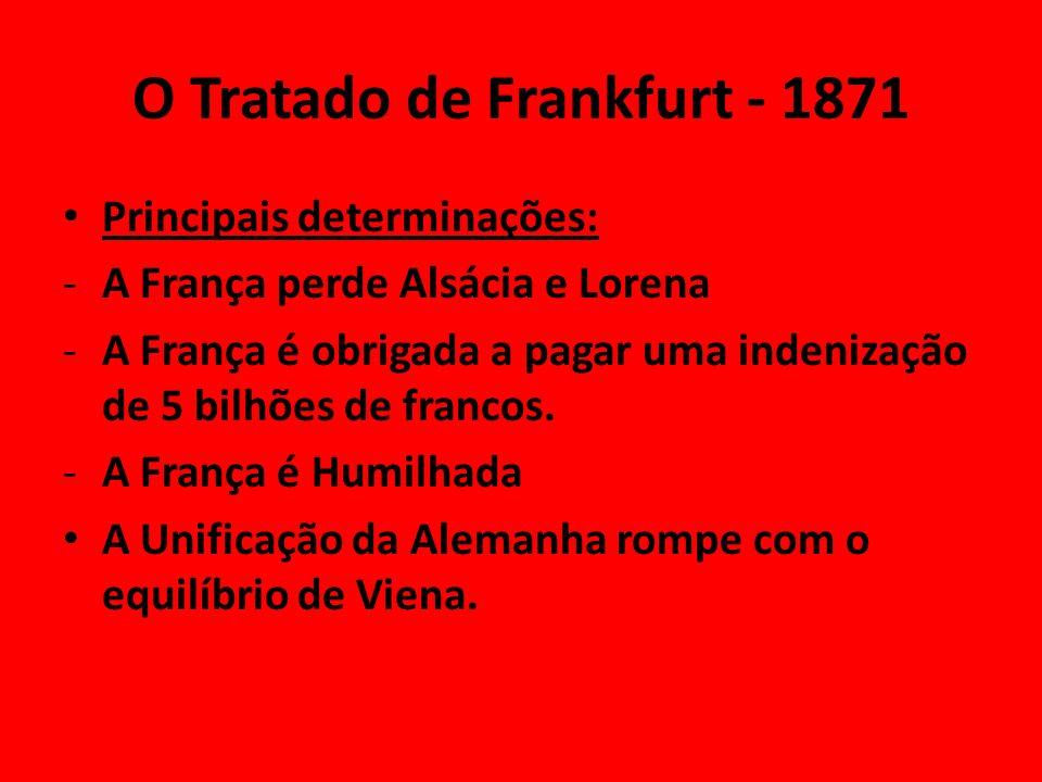 O Tratado de Frankfurt - 1871