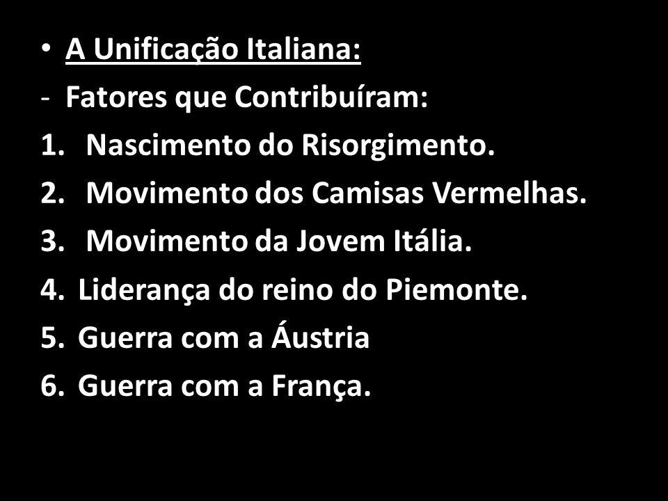 A Unificação Italiana: