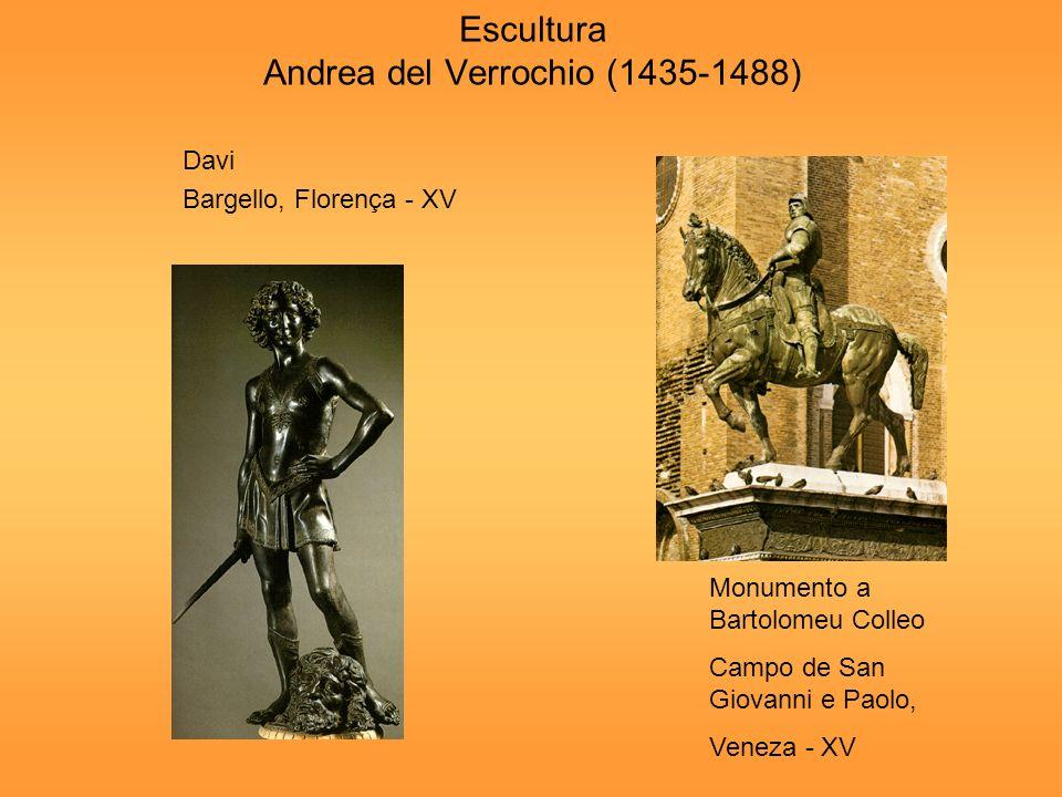 Escultura Andrea del Verrochio (1435-1488)