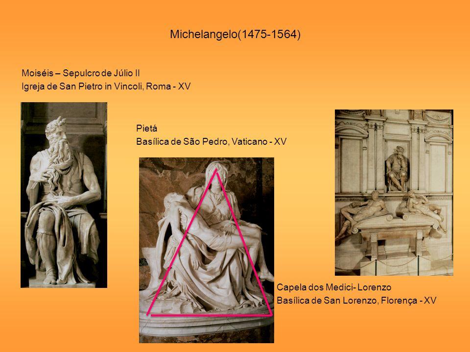 Michelangelo(1475-1564) Moiséis – Sepulcro de Júlio II