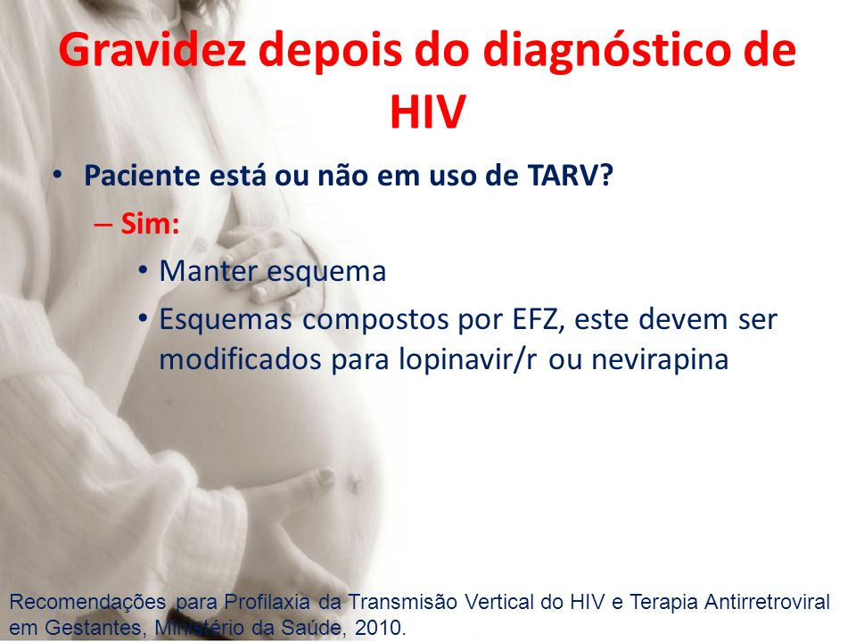 Gravidez depois do diagnóstico de HIV