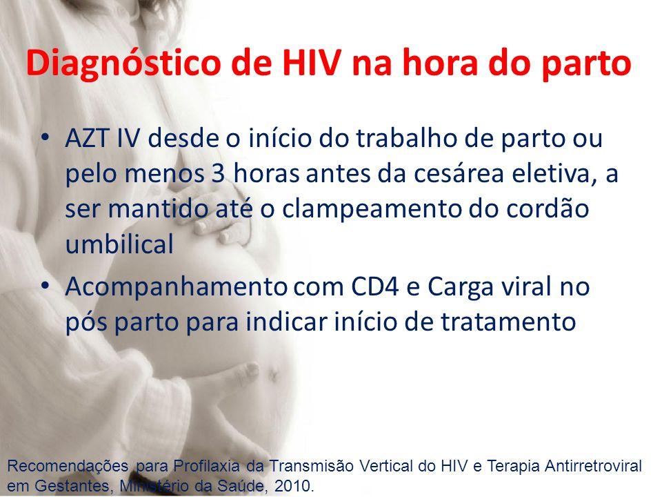 Diagnóstico de HIV na hora do parto