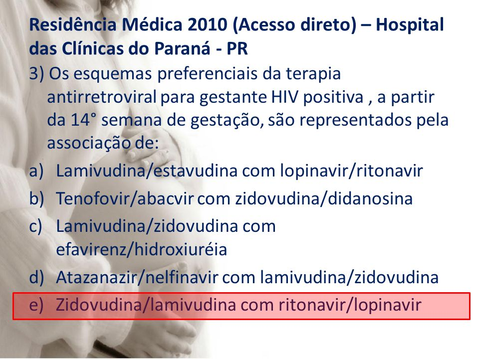 Residência Médica 2010 (Acesso direto) – Hospital das Clínicas do Paraná - PR