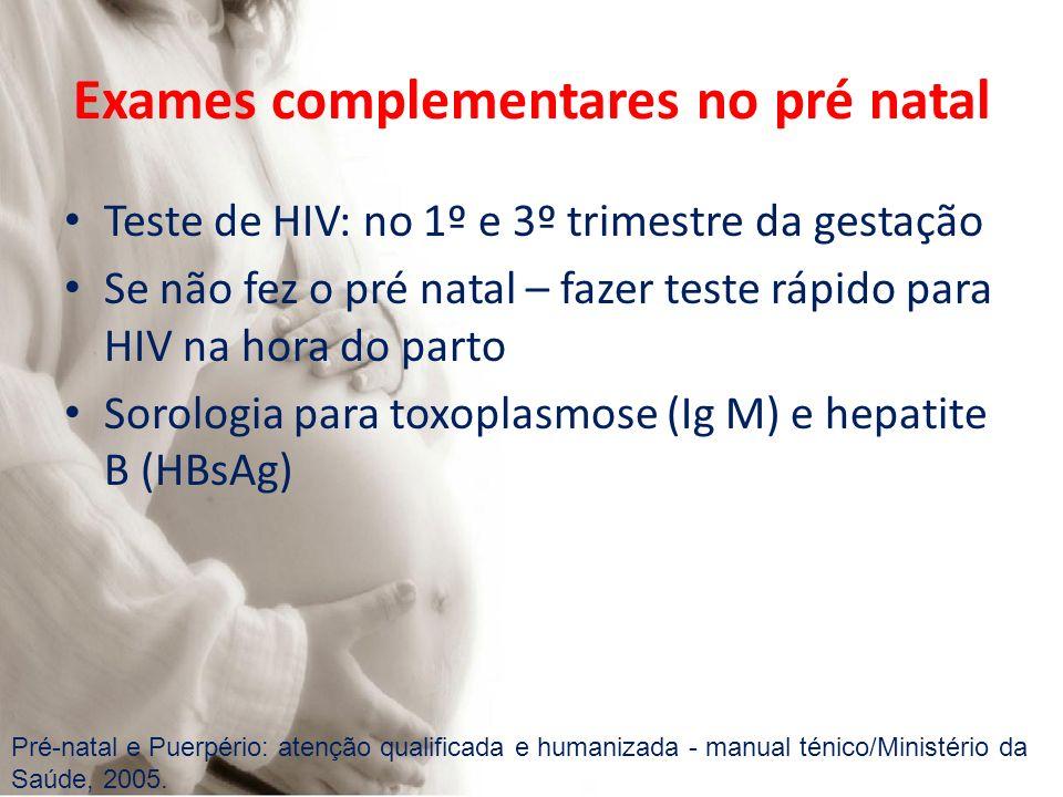 Exames complementares no pré natal