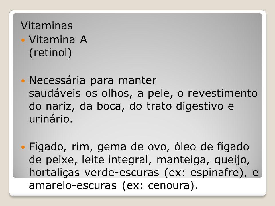 Vitaminas Vitamina A (retinol)