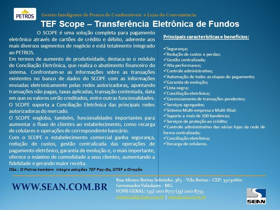 TEF Scope – Transferência Eletrônica de Fundos