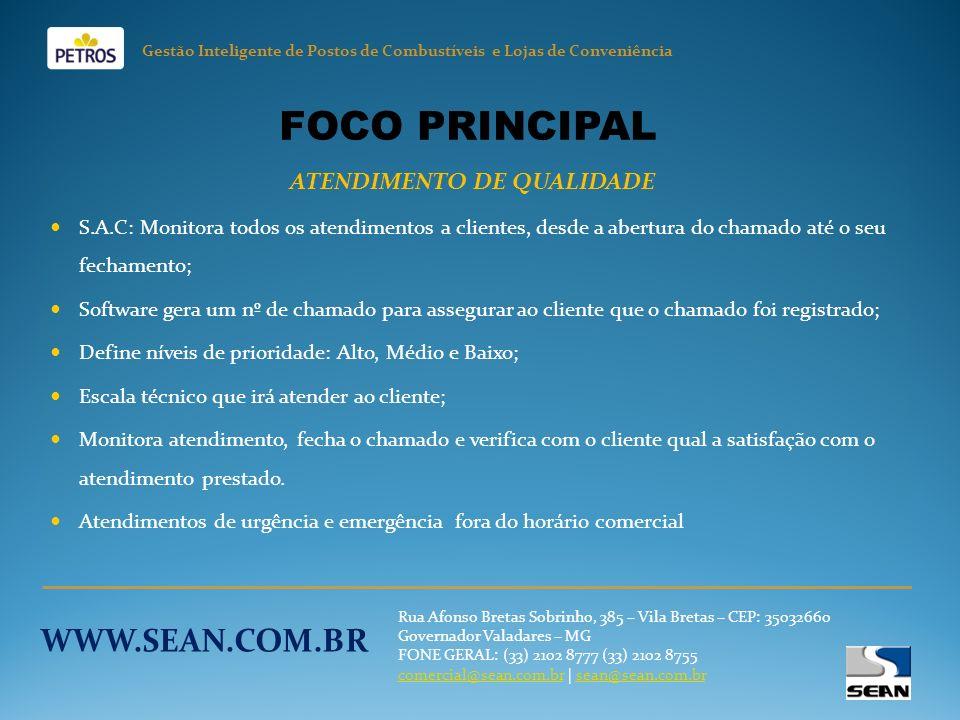 FOCO PRINCIPAL WWW.SEAN.COM.BR ATENDIMENTO DE QUALIDADE