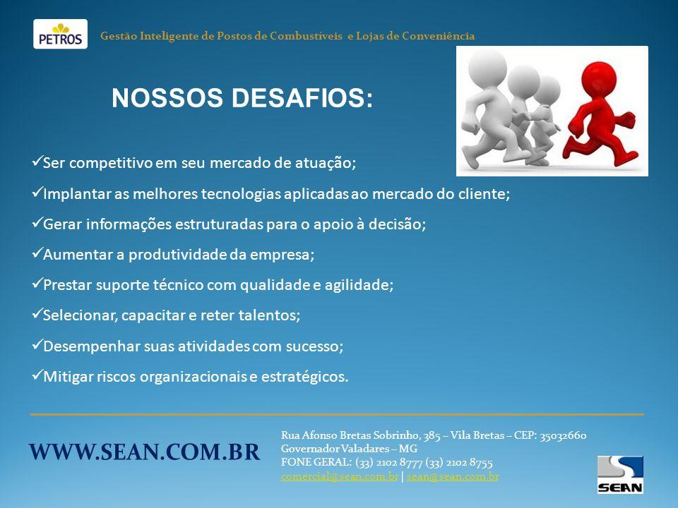 NOSSOS DESAFIOS: WWW.SEAN.COM.BR