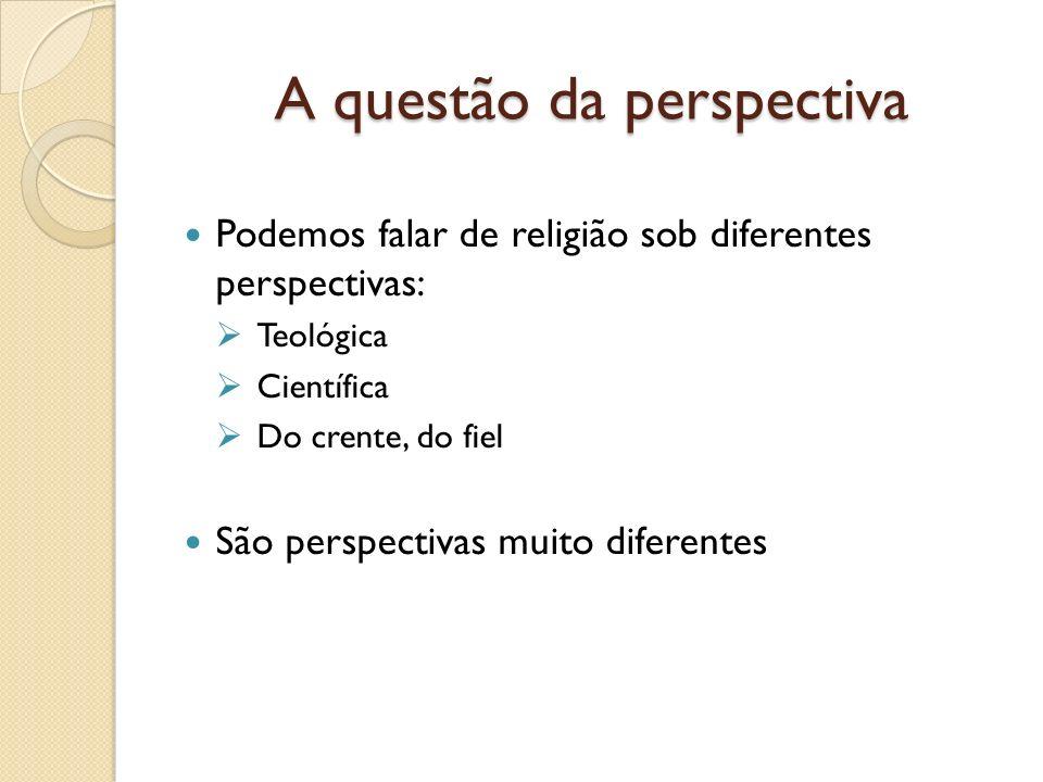 A questão da perspectiva