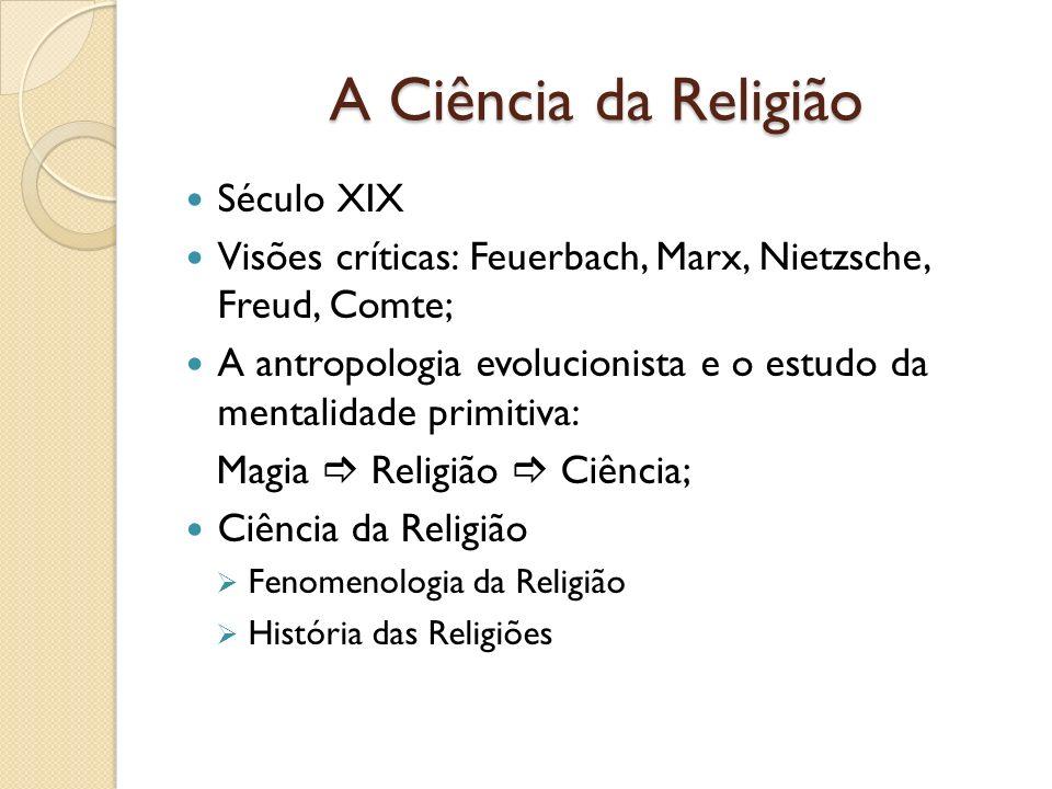 A Ciência da Religião Século XIX