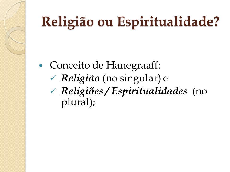 Religião ou Espiritualidade
