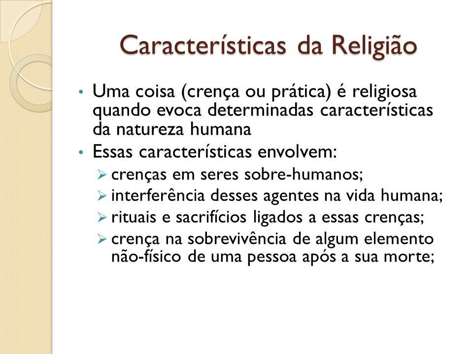 Características da Religião