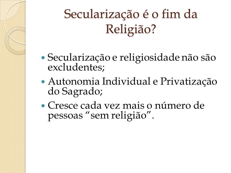 Secularização é o fim da Religião