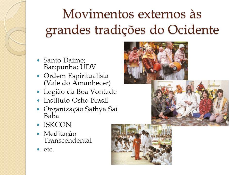 Movimentos externos às grandes tradições do Ocidente
