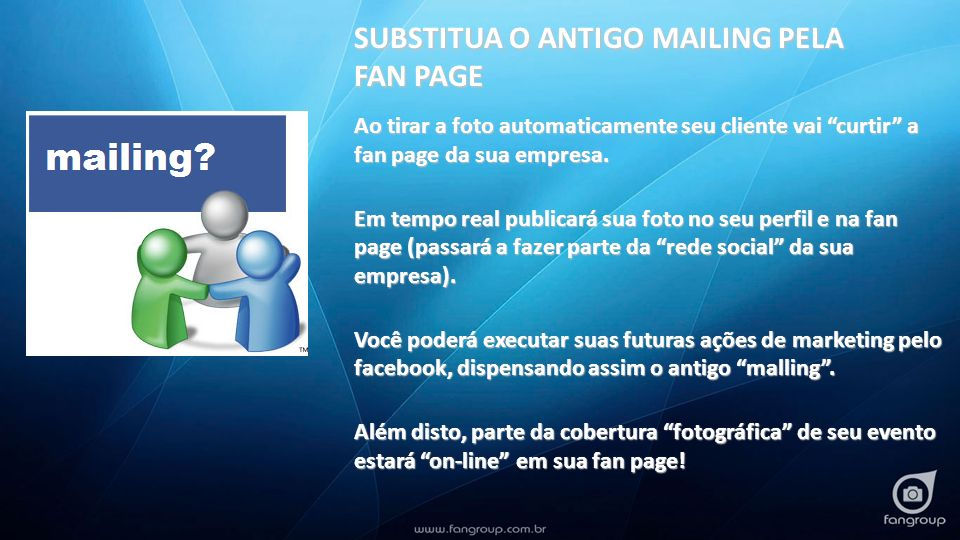 SUBSTITUA O ANTIGO MAILING PELA FAN PAGE