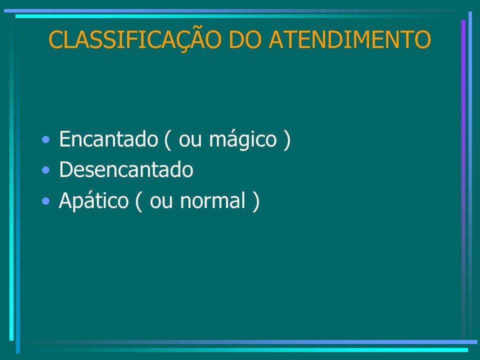 CLASSIFICAÇÃO DO ATENDIMENTO
