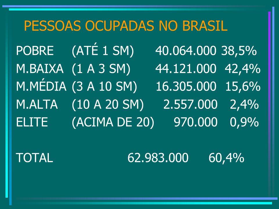 PESSOAS OCUPADAS NO BRASIL