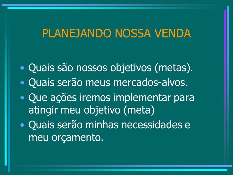 PLANEJANDO NOSSA VENDA