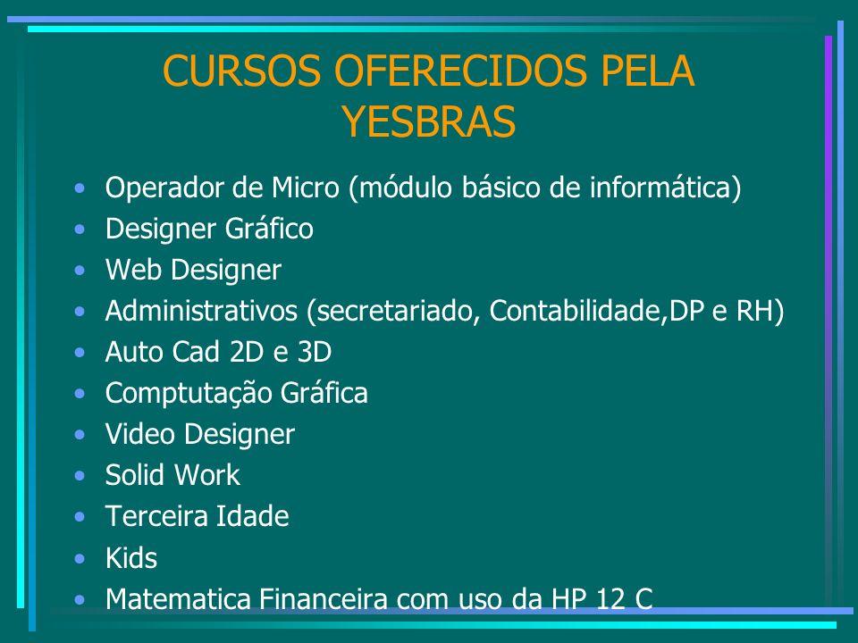 CURSOS OFERECIDOS PELA YESBRAS