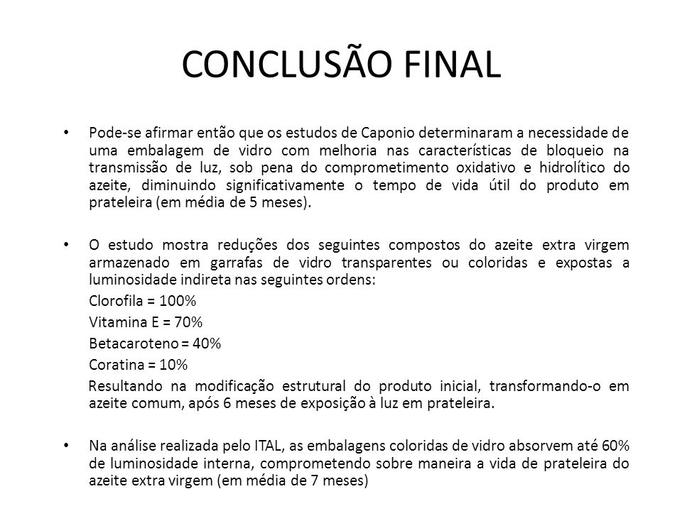 CONCLUSÃO FINAL