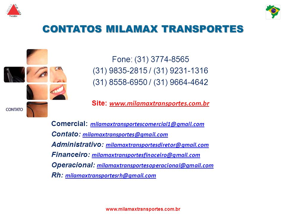 CONTATOS MILAMAX TRANSPORTES
