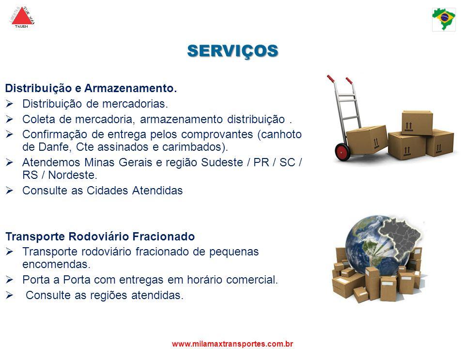 SERVIÇOS Distribuição e Armazenamento. Distribuição de mercadorias.