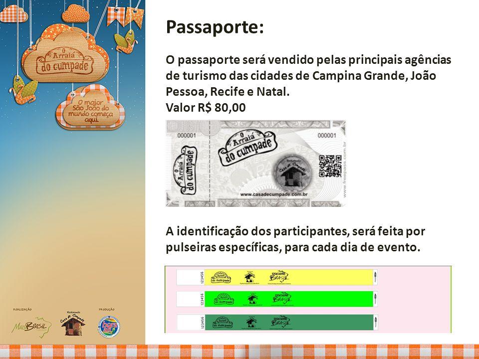 Passaporte: O passaporte será vendido pelas principais agências de turismo das cidades de Campina Grande, João Pessoa, Recife e Natal.