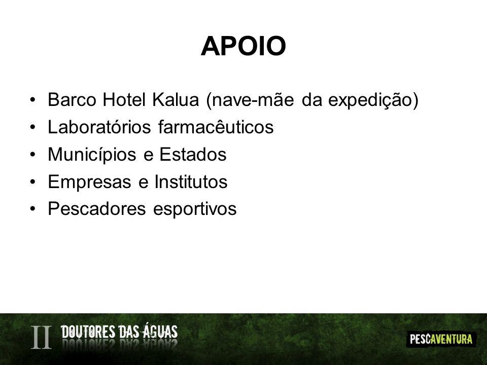 APOIO Barco Hotel Kalua (nave-mãe da expedição)