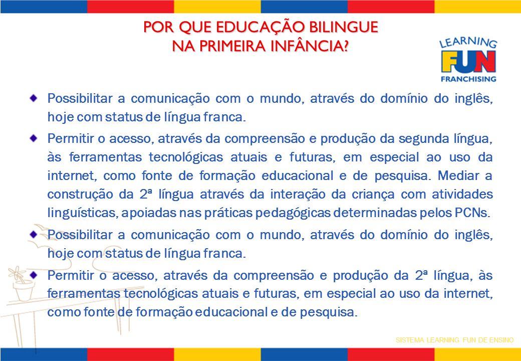 POR QUE EDUCAÇÃO BILINGUE NA PRIMEIRA INFÂNCIA