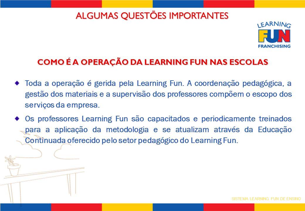 COMO É A OPERAÇÃO DA LEARNING FUN NAS ESCOLAS