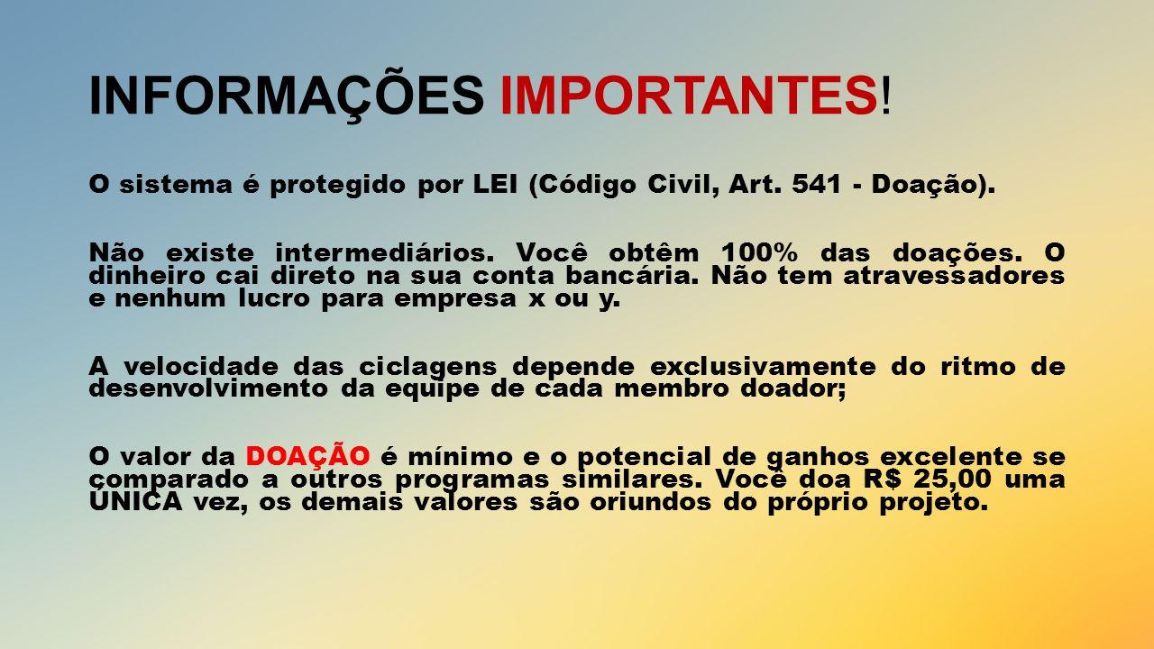 INFORMAÇÕES IMPORTANTES!
