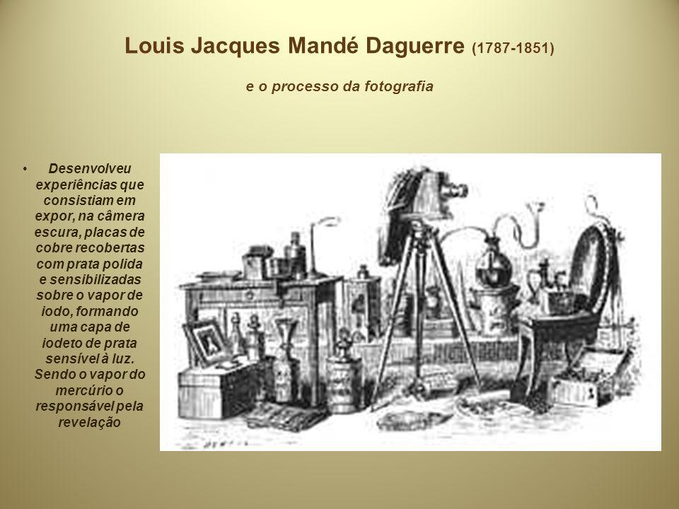 Louis Jacques Mandé Daguerre (1787-1851) e o processo da fotografia