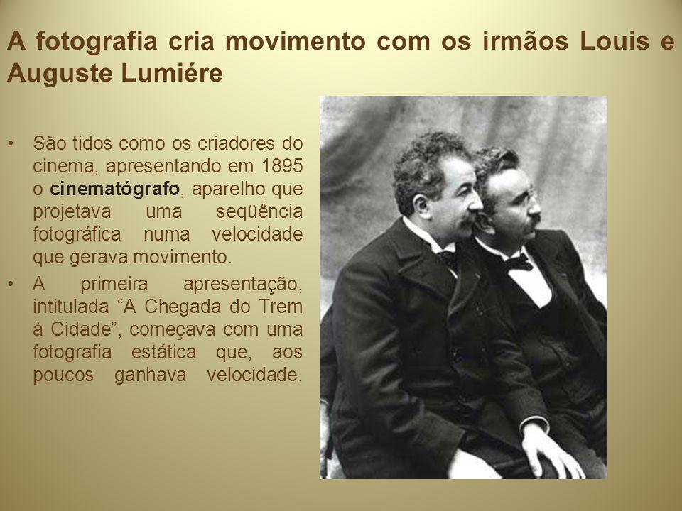 A fotografia cria movimento com os irmãos Louis e Auguste Lumiére
