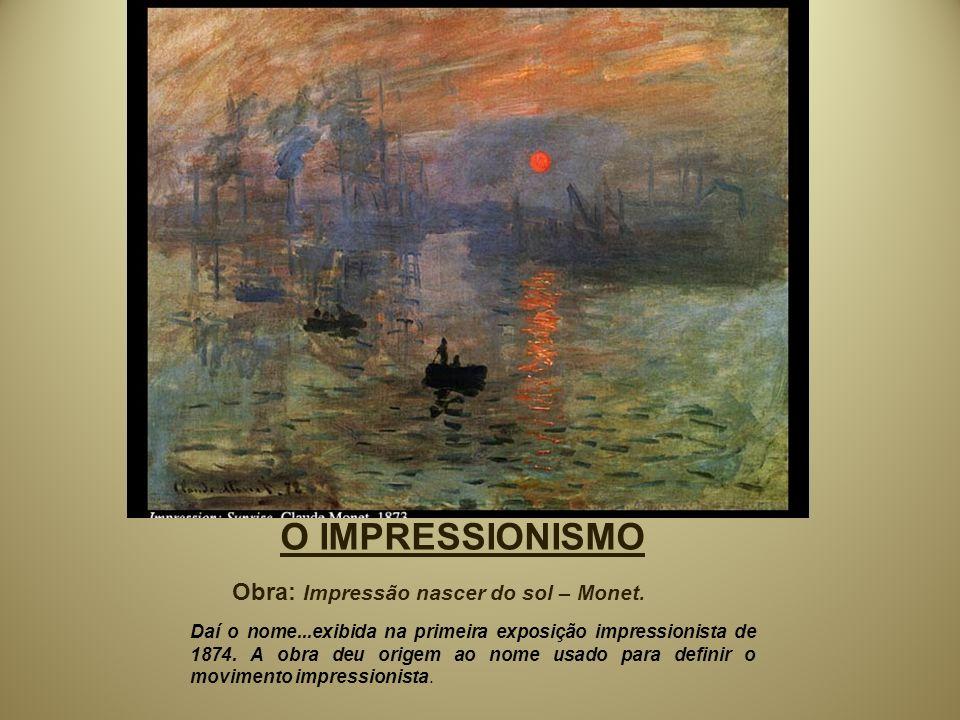 O IMPRESSIONISMO Obra: Impressão nascer do sol – Monet.