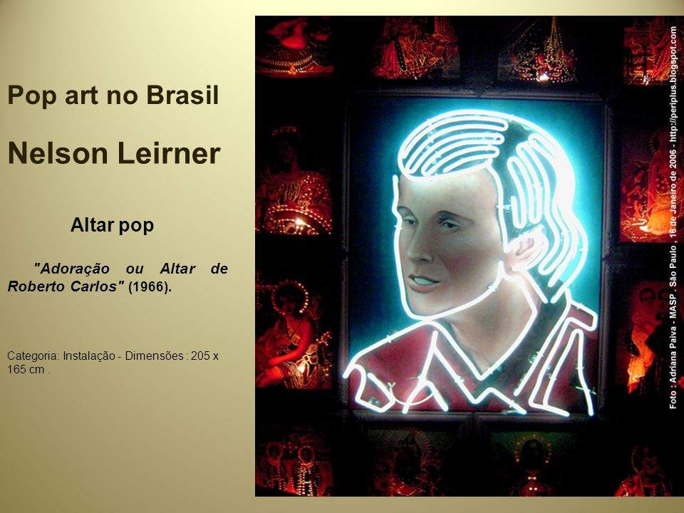 Nelson Leirner Pop art no Brasil Altar pop