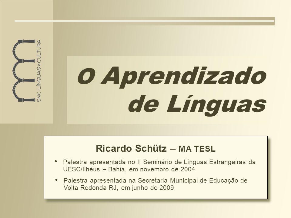 O Aprendizado de Línguas