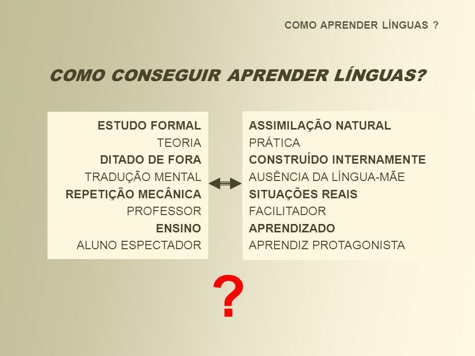 COMO CONSEGUIR APRENDER LÍNGUAS ESTUDO FORMAL ASSIMILAÇÃO NATURAL