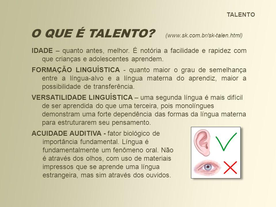 O QUE É TALENTO (www.sk.com.br/sk-talen.html)
