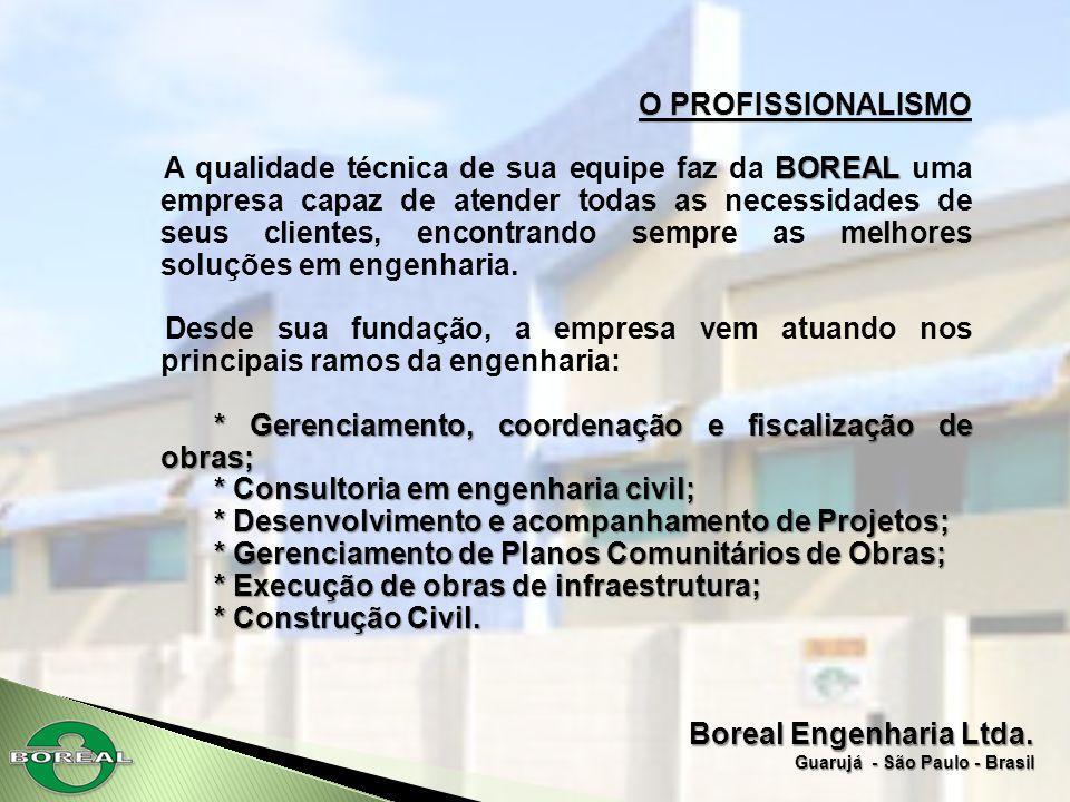 * Gerenciamento, coordenação e fiscalização de obras;